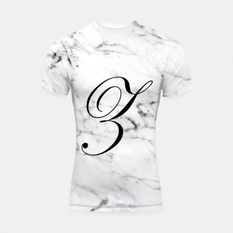 Thumbnail image of Abstract natural marble texture and alphabet Z Shortsleeve rashguard, Live Heroes