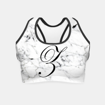 Thumbnail image of Abstract natural marble texture and alphabet Z Crop Top, Live Heroes