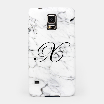Thumbnail image of Abstract natural marble texture and alphabet X Samsung Case, Live Heroes