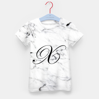 Thumbnail image of Abstract natural marble texture and alphabet X Kid's t-shirt, Live Heroes