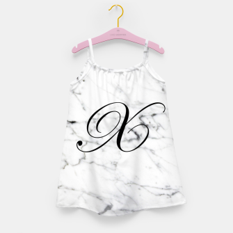 Thumbnail image of Abstract natural marble texture and alphabet X Girl's dress, Live Heroes