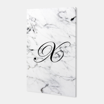 Thumbnail image of Abstract natural marble texture and alphabet X Canvas, Live Heroes