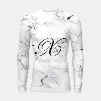 Thumbnail image of Abstract natural marble texture and alphabet X Longsleeve rashguard , Live Heroes