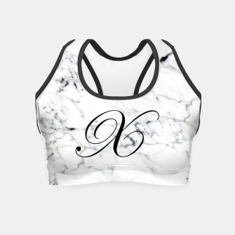 Thumbnail image of Abstract natural marble texture and alphabet X Crop Top, Live Heroes