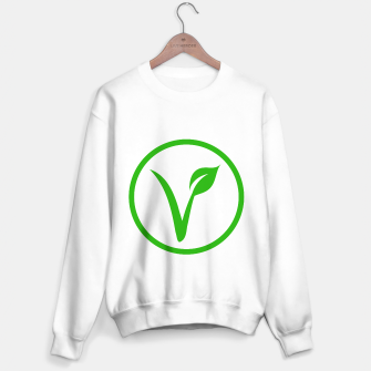 Miniatur Universal vegetarian symbol- The V-label- V with a leaf, originated with the European Vegetarian Union Sweater regular, Live Heroes