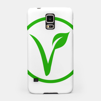 Thumbnail image of Universal vegetarian symbol- The V-label- V with a leaf, originated with the European Vegetarian Union Samsung Case, Live Heroes