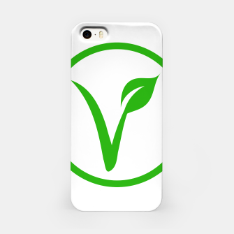 Miniatur Universal vegetarian symbol- The V-label- V with a leaf, originated with the European Vegetarian Union iPhone Case, Live Heroes