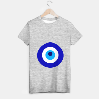 Miniatur Turkish amulet called Nazar which means sight, surveillance, attention used as a sign of protection in Middle east T-shirt regular, Live Heroes