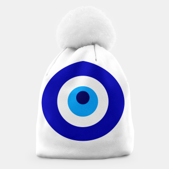 Miniature de image de Turkish amulet called Nazar which means sight, surveillance, attention used as a sign of protection in Middle east Beanie, Live Heroes