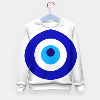 Miniaturka Turkish amulet called Nazar which means sight, surveillance, attention used as a sign of protection in Middle east Kid's sweater, Live Heroes
