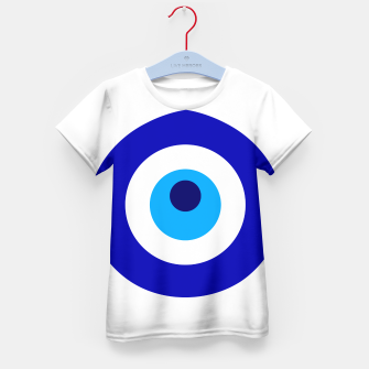 Miniaturka Turkish amulet called Nazar which means sight, surveillance, attention used as a sign of protection in Middle east Kid's t-shirt, Live Heroes