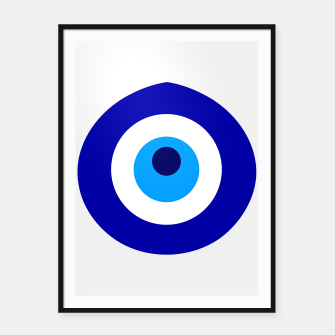 Thumbnail image of Turkish amulet called Nazar which means sight, surveillance, attention used as a sign of protection in Middle east Framed poster, Live Heroes
