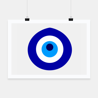 Miniaturka Turkish amulet called Nazar which means sight, surveillance, attention used as a sign of protection in Middle east Poster, Live Heroes