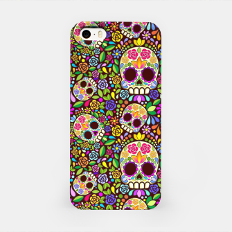 Thumbnail image of Sugar Skull Floral Art Mexican Calaveras iPhone Case, Live Heroes
