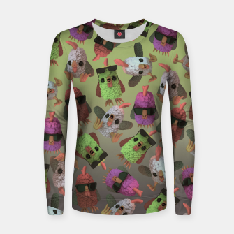 Miniatur Chicken Gang Women sweater, Live Heroes