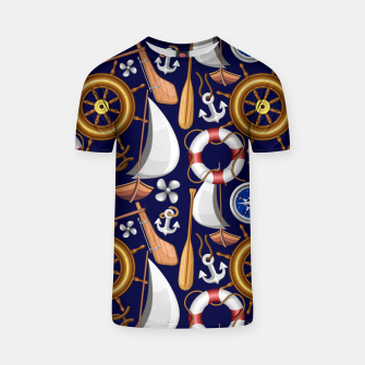 Miniaturka Nautical Marine and Navy Equipment T-shirt, Live Heroes