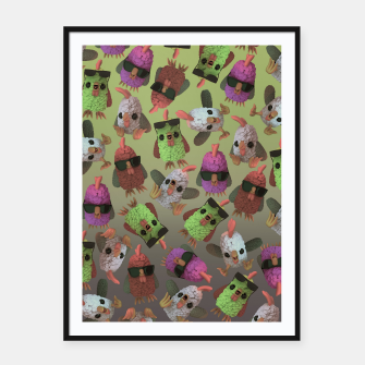 Thumbnail image of Chicken Gang Framed poster, Live Heroes