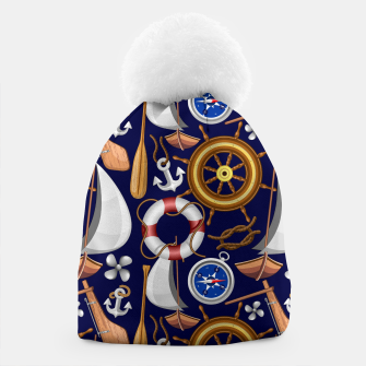 Miniature de image de Nautical Marine and Navy Equipment Beanie, Live Heroes
