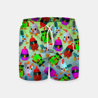 Thumbnail image of Chicken Gang Strong Swim Shorts, Live Heroes
