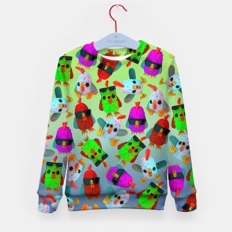 Thumbnail image of Chicken Gang Strong Kid's sweater, Live Heroes