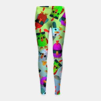 Imagen en miniatura de Chicken Gang Strong Girl's leggings, Live Heroes