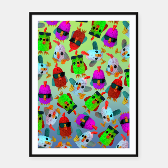 Thumbnail image of Chicken Gang Strong Framed poster, Live Heroes