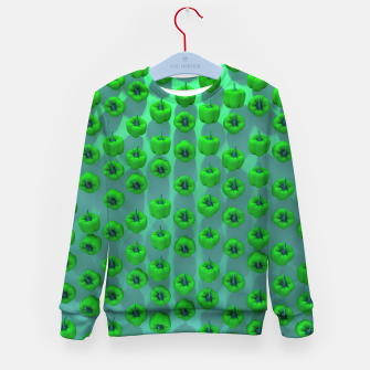 Miniature de image de Paprika Green Kid's sweater, Live Heroes