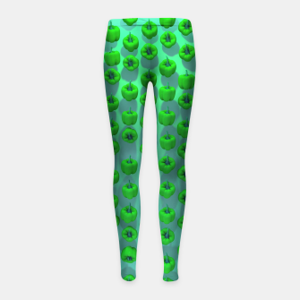 Miniature de image de Paprika Green Girl's leggings, Live Heroes