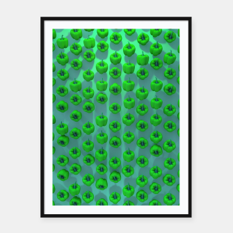 Thumbnail image of Paprika Green Framed poster, Live Heroes