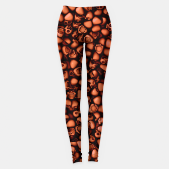 Thumbnail image of Red Skulls...Skulls....Skulls Leggings, Live Heroes