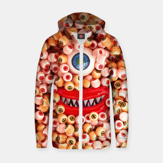 Monster Eyes Party Smile Zip up hoodie thumbnail image