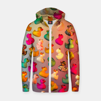 Rubber Duck Zip up hoodie thumbnail image