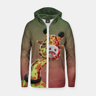 Cool Giraffe Zip up hoodie thumbnail image