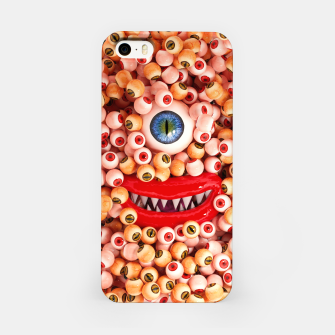 Monster Eyes Party Smile iPhone Case thumbnail image
