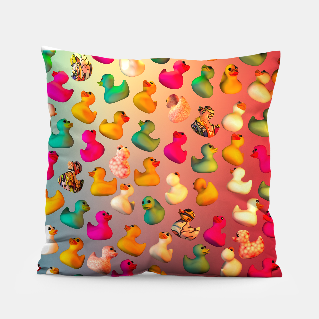 Image of Rubber Duck Pillow - Live Heroes