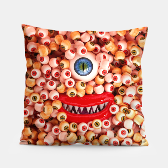 Monster Eyes Party Smile Pillow thumbnail image