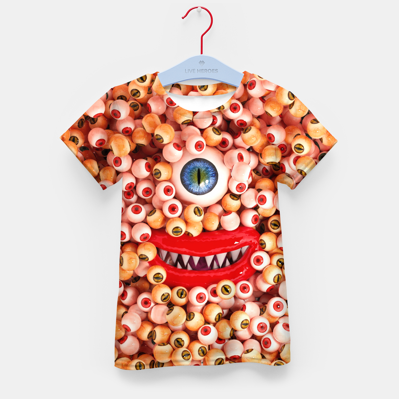 Image of Monster Eyes Party Smile Kid's t-shirt - Live Heroes