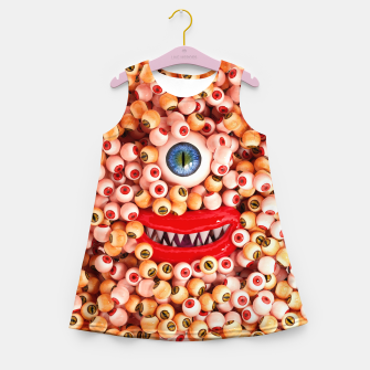 Monster Eyes Party Smile Girl's summer dress thumbnail image