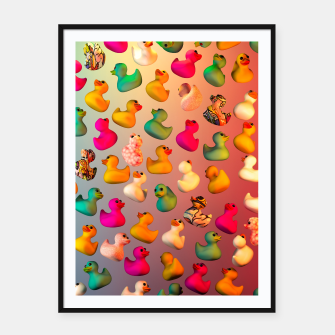 Thumbnail image of Rubber Duck Framed poster, Live Heroes