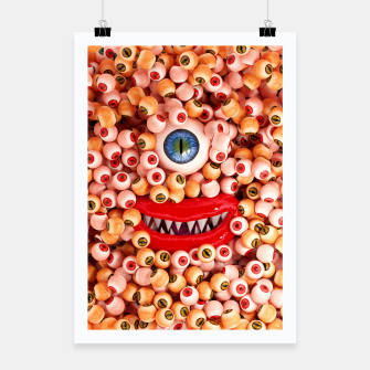 Thumbnail image of Monster Eyes Party Smile Poster, Live Heroes