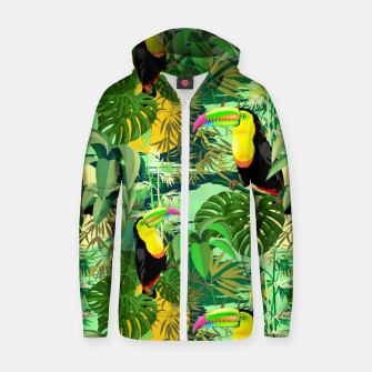 Miniature de image de Toucan in Green Amazonia Rainforest  Zip up hoodie, Live Heroes