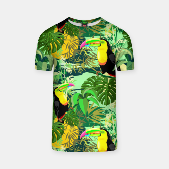 Miniaturka Toucan in Green Amazonia Rainforest  T-shirt, Live Heroes