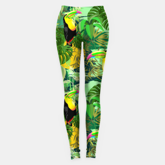 Miniature de image de Toucan in Green Amazonia Rainforest  Leggings, Live Heroes