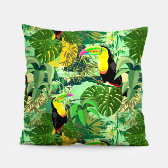Miniature de image de Toucan in Green Amazonia Rainforest  Pillow, Live Heroes