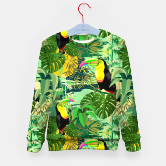 Miniature de image de Toucan in Green Amazonia Rainforest  Kid's sweater, Live Heroes