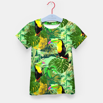 Miniature de image de Toucan in Green Amazonia Rainforest  Kid's t-shirt, Live Heroes