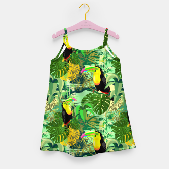 Miniature de image de Toucan in Green Amazonia Rainforest  Girl's dress, Live Heroes