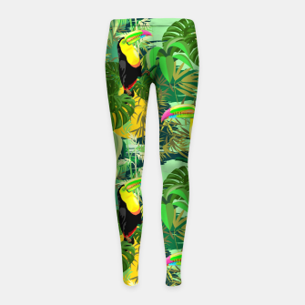 Imagen en miniatura de Toucan in Green Amazonia Rainforest  Girl's leggings, Live Heroes
