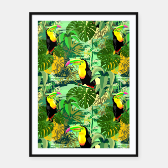 Miniature de image de Toucan in Green Amazonia Rainforest  Framed poster, Live Heroes