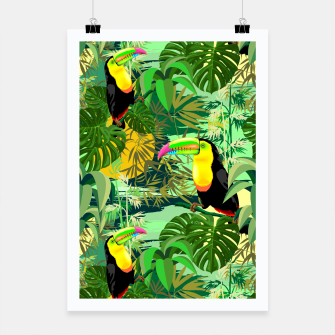 Miniature de image de Toucan in Green Amazonia Rainforest  Poster, Live Heroes